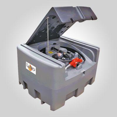Réservoir compact PEHD gasoil 400 l équipé 12v