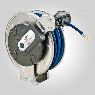 """Enrouleur eau HP inox 25m - 3/8"""" - 200 bar  - Liaison 1.20 m B1"""
