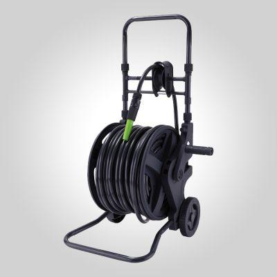 Enrouleur eau plastique manuel sur chariot  45 m - 1/2'' - 13mm