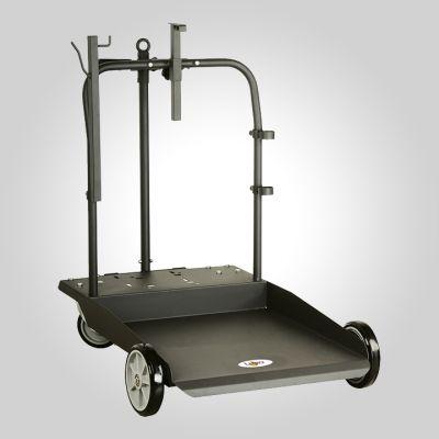 Chariot 200 kg industriel - porte enrouleur